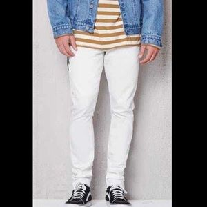 Pacsun stacked skinny white jeans